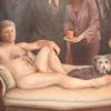 Artist Maggie Sutherland paints a nude of Canada's Prime Minister...and his dog.